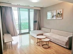 红树西岸 景观好  看深圳湾海景   坐在阳台看香港租房效果图